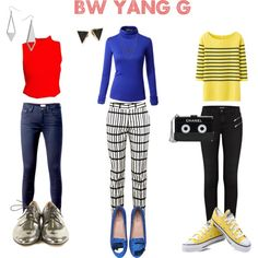 5 Second Polyvore: Bright Winter Yang Gamine by thewildpapillon on Polyvore featuring Doublju, Uniqlo, Daisy Street, J Brand, Tommy Hilfiger, Apiece Apart, Converse, Chiara Ferragni, Chanel and Miss Selfridge