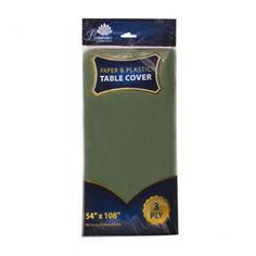 3 Ply Paper/Plastic Table Covers 54 x 108 Inch Green/Case of 24