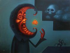"Threyda | Art & Goods | ""Having A Night Cap"" by J. Slattum  24 x 30 inches"
