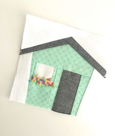 I've added a new tiny foundation paper pieced pattern to my collection! Tiny House was created a little by accident—I was actually making a different. House Quilt Patterns, House Quilt Block, House Quilts, Paper Piecing Patterns, Quilt Block Patterns, Pattern Blocks, Quilt Blocks, Easy Quilts, Mini Quilts