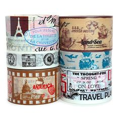 Crafty Rabbit Vintage Travel Vacation Washi Tape, Set of ... https://www.amazon.com/dp/B01GBXZ270/ref=cm_sw_r_pi_dp_x_NtMkyb6KXH485