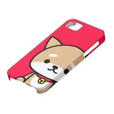 coque iphone - chiot - rouge coques iPhone 5 Case-Mate