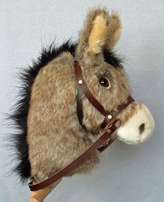 Hobby horse stick horse Donkey burro. Top by AdorablePonies