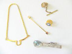 Vintage Men's Tie Tack Group Men's Jewelry by SongSparrowTreasures, $10.00