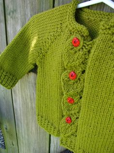 Items similar to Hand Knit Baby Ladybug Cardigan/ Knitted Baby Girl Leaves Sweater on Etsy Knitted Baby, Baby Knitting, Baby Ladybug, Wool Blend, Knitwear, Leaves, Crochet, Party, Sweaters