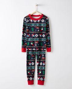 50413497fc Long John Pajamas In Organic Cotton
