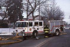 Paterson NJ Engine 7 - E-ONE RD Murray Pumper at Fire Scene Fire Apparatus Slide
