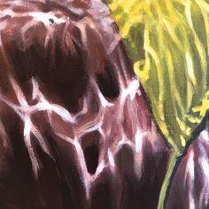 """Yellow submarine"" (detail) 2018©antoinerenault. acrylic on canvas 50x70cm"