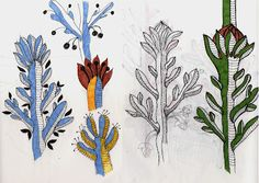 Botanical Sketchbooks, Artist Study with thanks to el guano: sketchbooking plants, Reaources for Art Students at CAPI::: Create Art Portfolio Ideas milliande.com, Art School Portfolio Work, , Textile Design, Botanical, Flowers, Sketching