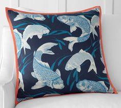 Koi Fish Pillow Cover | Pottery Barn