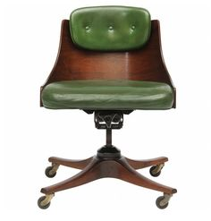 1940s Barrel Back Desk Chair | Design: Edward Wormley for Dunbar | USA