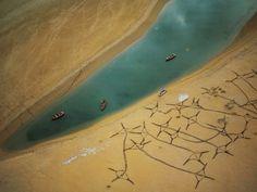 Reti da pesca pronte per essere utilizzate: #Marocco nei pressi di Moulay Bousselham