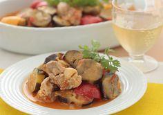 ナスと鶏肉の冷製トマト煮