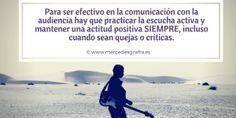Importancia de practicar la escucha activa Social, Coaching, Ecards, Memes, Positive Attitude, Active Listening, Marketing Quotes, Pet Peeves, Training