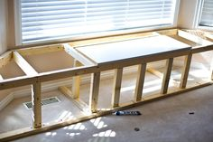 window seat/storage