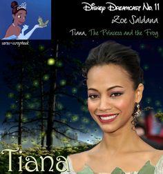 Disney Dreamcast: Zoe Salanda as Princess Tiana