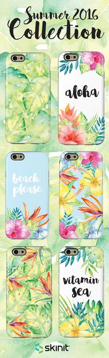 Beach please. Splash into summer with our new Summer 2016 Collection! All designs are available as a case or skin for multiple devices. Select your device and shop the entire collection at www.skinit.com #SkinitMade