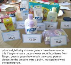 Price is right game. Expect with different items