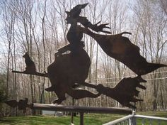 Witch Cottage:  #Witch #Cottage. Witch Weather Vane.