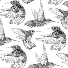I love these Hummingbirds, by Gavin Rutherford, via Behance