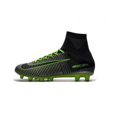 half off 70bdc e6d49 Barato Nike Mercurial Superfly V AG-Pro Negro Gris Verde