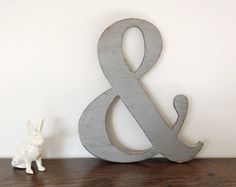 Ampersand wooden signs photo props custom sign by OldNewAgain, $32.00
