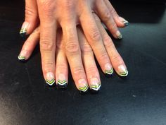 Black, green and grey nails