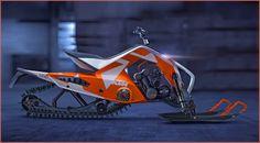 Pintodesign: KTM X2 Hybrid ATV Snowmobil Sowohl auf Schneepisten wie auch im Gelände ist das Fahrzeug einsetzbar, das Anssi Mustonen aus Helsinki entworfen hat: das KTM X2 Hybrid ATV Snowmobil. Spektakulär genug ist das Konzept auf jeden Fall, dass sich die österreichische Sportbike-Schmiede dafür interessieren könnte http://www.atv-quad-magazin.com/aktuell/pintodesign-ktm-x2-hybrid-atv-snowmobil/