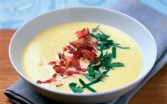 Lchf, Cheeseburger Chowder, Soup Recipes, Tapas, Bacon, Food And Drink, Snacks, Fruit, Ethnic Recipes