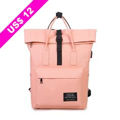 New Women External Usb Charge Backpack Canvas Backpack Male Mochila Escolar Girls Laptop Backpack School Bags Backpack For Teens Pastel Backpack, Backpack Bags, Fashion Backpack, Hiking Backpack, Top Backpacks, School Backpacks, Canvas Backpacks, Laptop Rucksack, Laptop Bag