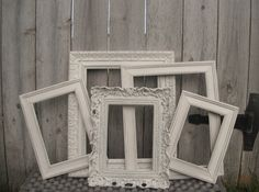 Distressed Vintage Style PICTURE FRAMES Ornate by VintageEvents