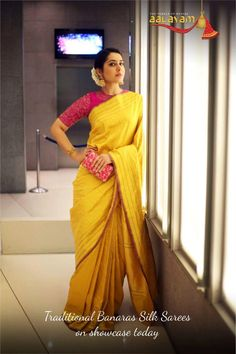Banarasi silk the epitome of true elegance on show today. Call 9505622344 for more details. #wow #nice
