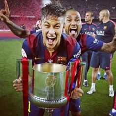 Ney, Dani and the amazing trophy!!!