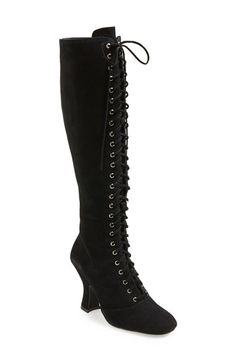 Jeffrey Campbell 'Wyder' Lace-Up Tall Boot