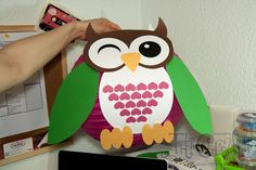 DIY. Owl Lampshade Decoration.