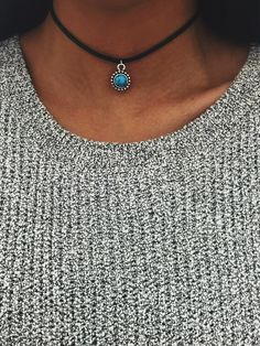 Dainty Turquoise Mandala Choker