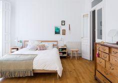 Casinha colorida: Ladrilhos hidráulicos: quatro apartamentos na Espanha