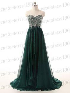 Sweetheart long prom dressgreen long evening by customdress1900