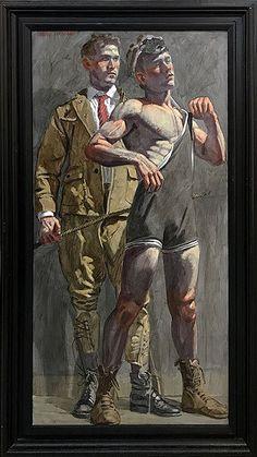 oil on canvas Wrestler Man Looking On by Bruce Sargeant (Mark Beard) Figure Painting, Figure Drawing, Beard Art, Queer Art, Art Of Man, Guy Drawing, Lost Art, Gay Art, Ancient Art