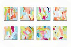 Modern Art Blocks Original Acrylic by MyaBessetteArtStudio on Etsy