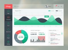 User interface for budgeting, forecasting and cash flow modelling