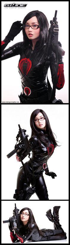 Character: The Baroness / From: 'G.I. JOE' / Cosplayer: Alodia Gosiengfiao (aka BlackMageAlodia)