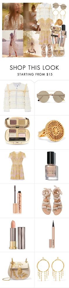 """I assumed that there was only room for my dreams in my dreams, so I'd sleep and repeat 'til the moon went home"" by brownish ❤ liked on Polyvore featuring Alix of Bohemia, Bottega Veneta, Dolce&Gabbana, Chloé, Bobbi Brown Cosmetics, Charlotte Tilbury, Elina Linardaki, Urban Decay and Hourglass Cosmetics"