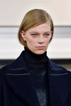 Wearing a turtleneck this fall/winter? Keep your hair tucked in as seen on the fall runways.