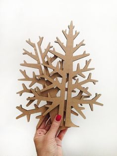 Laser-cut DIY brown recycled cardboard by cardboardchristmas