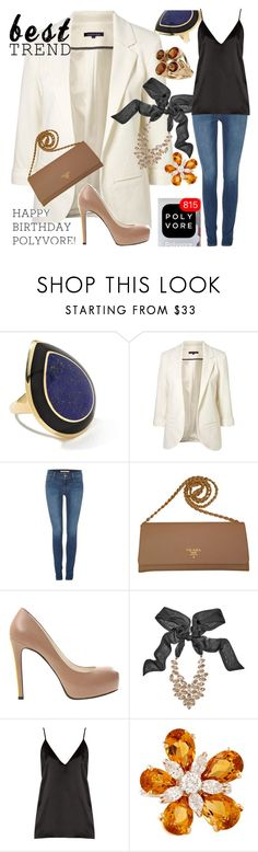 """""""Celebrate Our 10th Polyversary!"""" by ellenfischerbeauty ❤ liked on Polyvore featuring Ippolita, WithChic, Levi's, Prada, Alepel, GUESS by Marciano, Raey and Luca Carati"""