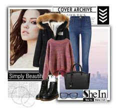 """""""SheIn 1/VI"""" by nermina-okanovic ❤ liked on Polyvore featuring Frame Denim, women's clothing, women's fashion, women, female, woman, misses and juniors"""