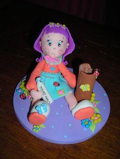 """niña """"rocio"""" modelado en ceramica en frio."""