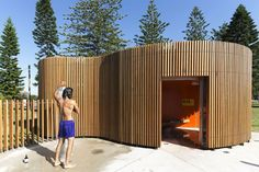 These sculptural public toilets and shower blocks by Fox Johnston architects are situated on Sydney's coastal beaches. They deliver facilities that are low on maintenance and shrug off the public amenity architecture archetype.