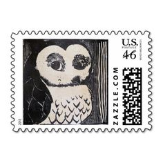Owl Stamps; Abigail Davidson Art